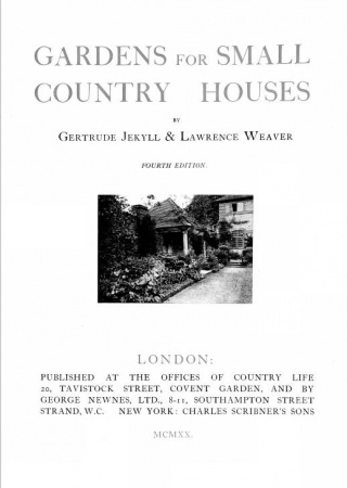 Gardens for small country houses,