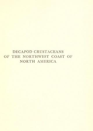 Decapod crustaceans of the northwest coast of North America ...