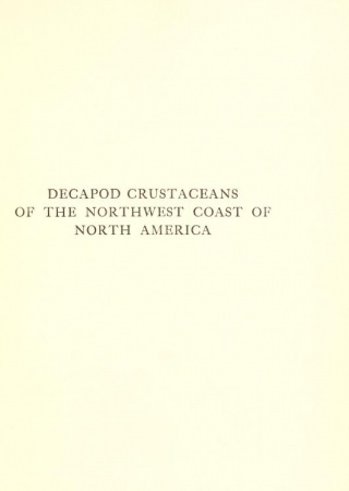 Decapod crustaceans of the northwest coast of North America ...