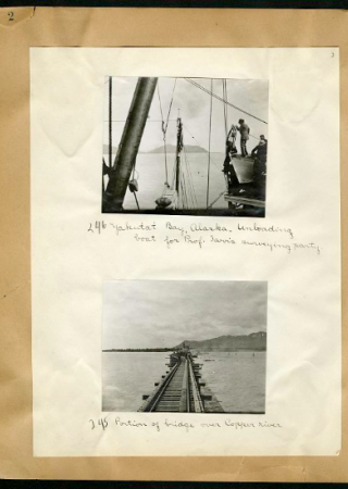 Agnes Chase, Yakutat Bay, Alaska and bridge over Copper River   Smithsonian Institution Archives, SIA Acc. 11-093
