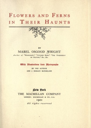 Flowers and ferns in their haunts,  by Mabel Osgood Wright with illustrations from photographs by the author and J. Horace McFarland.