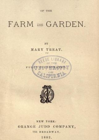 Injurious insects of the farm and garden.  By Mary Treat.