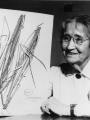 Agnes Chase with herbarium specimen | Smithsonian Institution Archives, Agnes Chase, Record Unit 95, Negative # SIA2009-4226 and SA-1289