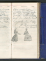 Florence Merriam Bailey Diary, 1874. Entries March 1-2 with drawings. | Smithsonian Institution Archives,  Record Unit 7417, Florence Merriam Bailey Papers, 1865-1942